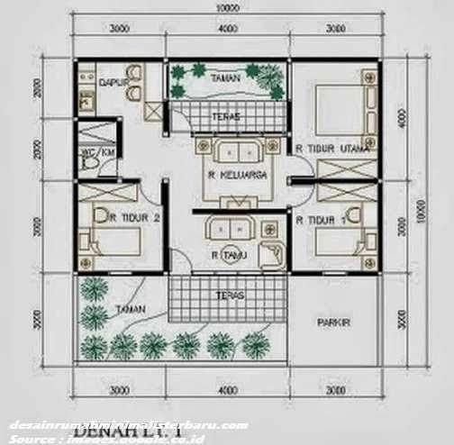 desain rumah minimalis type 45 5