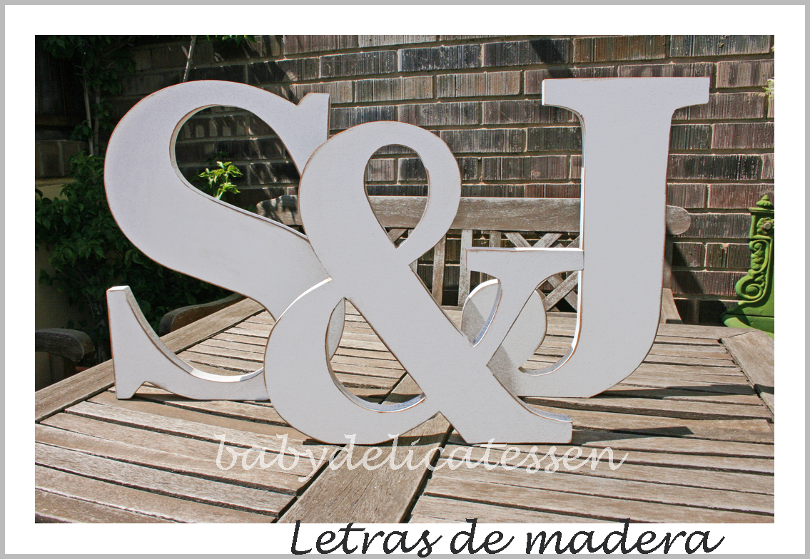 Baby delicatessen letras de madera letras para novios - Letras de nombres para decorar ...
