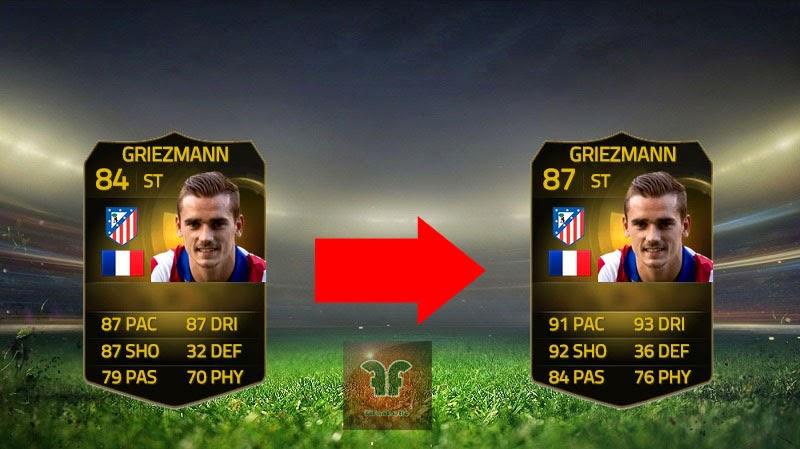 UP FIFA 15 Ultimate Team, Upgrades Isco, Griezmann, Lacazette, Perisic, FUT 15