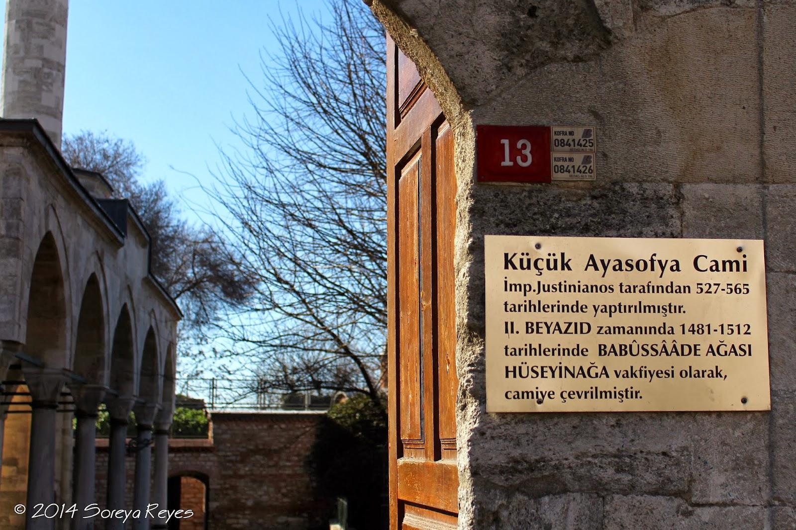 Photo Trek Istanbul: Little Hagia Sophia - Küçük Ayasofya ...