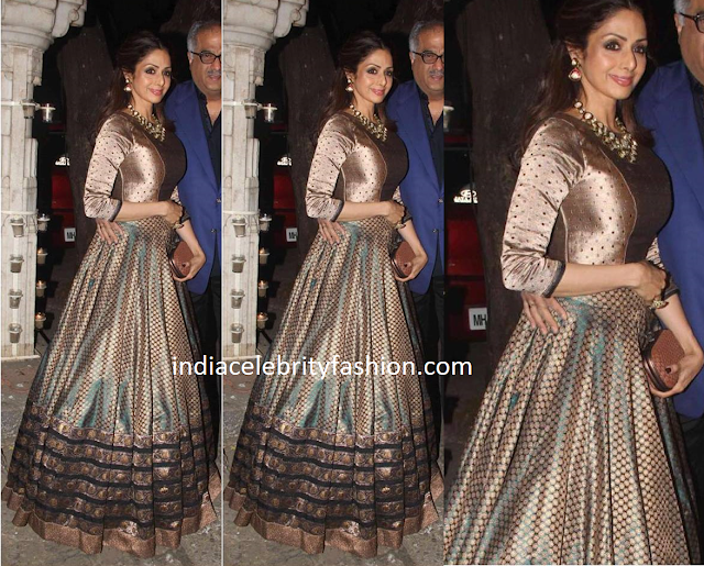 Sridevi Kapoor in Floor Length Anarkali