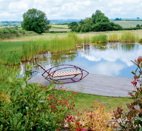 Backyard swimming pond and natural pool design english for English garden pool