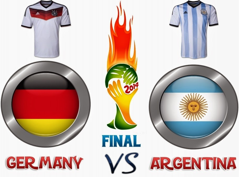 JADUAL PERLAWANAN FINAL PIALA DUNIA 2014, JADUAL ARGENTINA VS GERMANY ASTRO FIFA WORLD CUP 2014