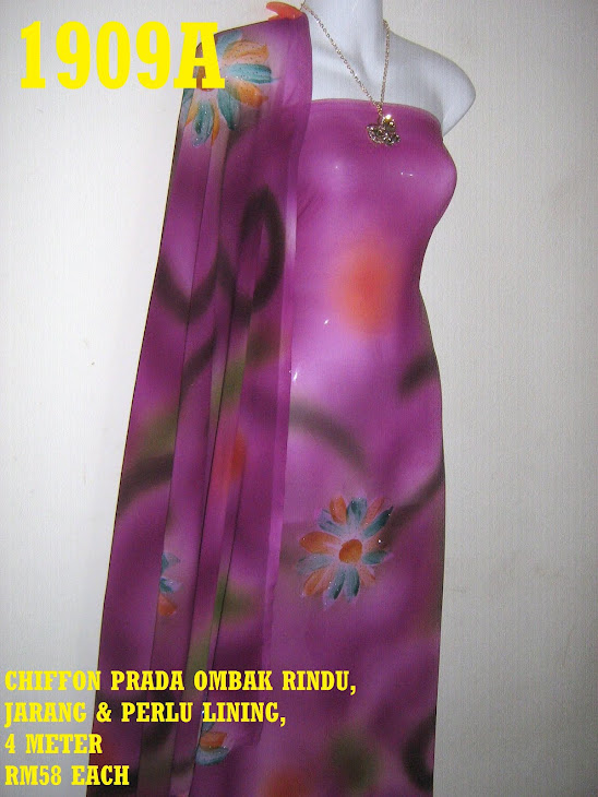 CP 1909A: CHIFFON PRADA OMBAK RINDU, JARANG DAN PERLU LINING, 4 METER