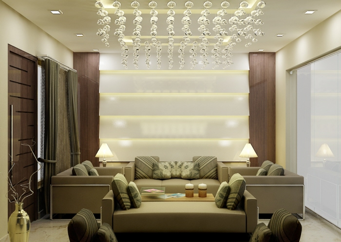 Modern Drawing Room Design by Radhika Gupta