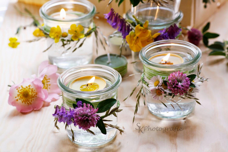 DIY: Windlichter im Einweckglas mit Blumenkranz  Alles ...