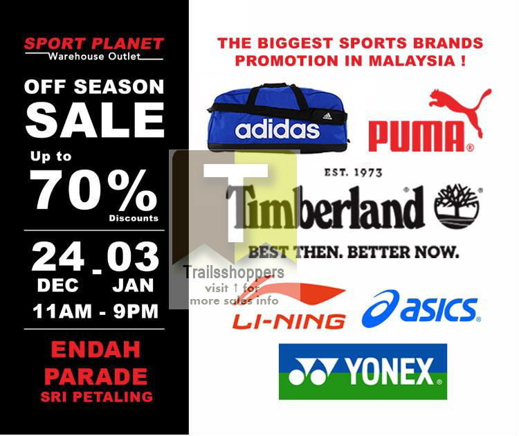 Sport Planet Warehouse Outlet Off Season Sale