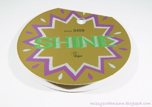 Etikett mit Inhalt des Lush Shine Sets