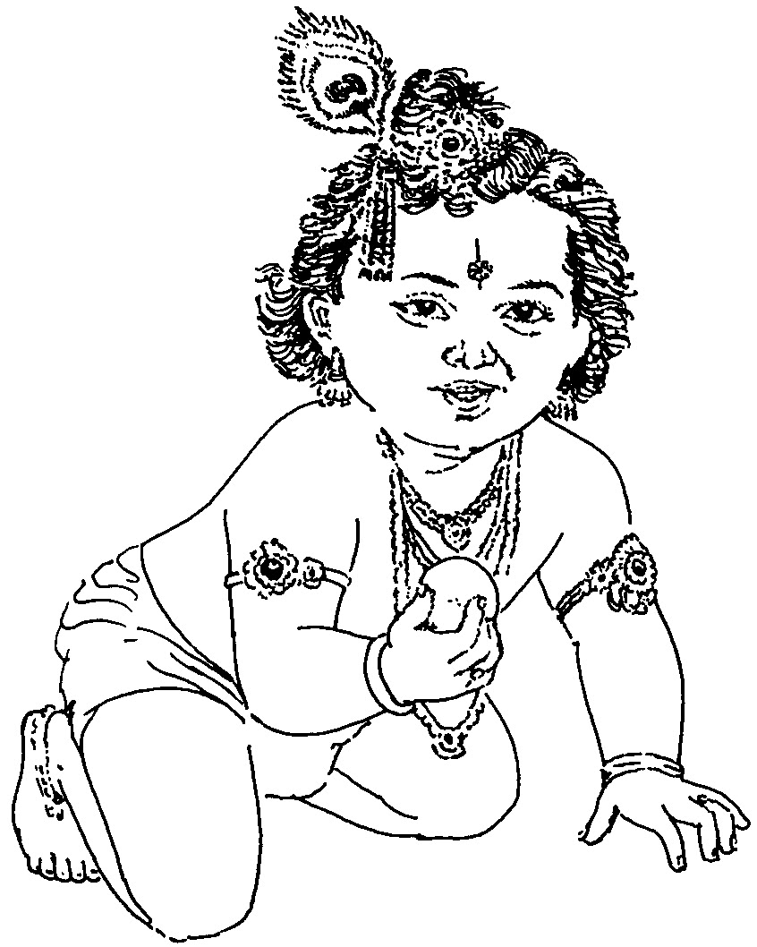 coloring pages on god krishna - photo#5