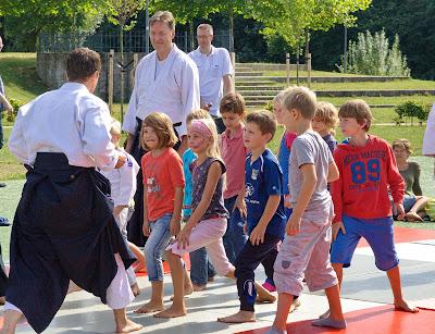 Aikido op de Wijkbrunch Oosterhout. Foto: Peter Put