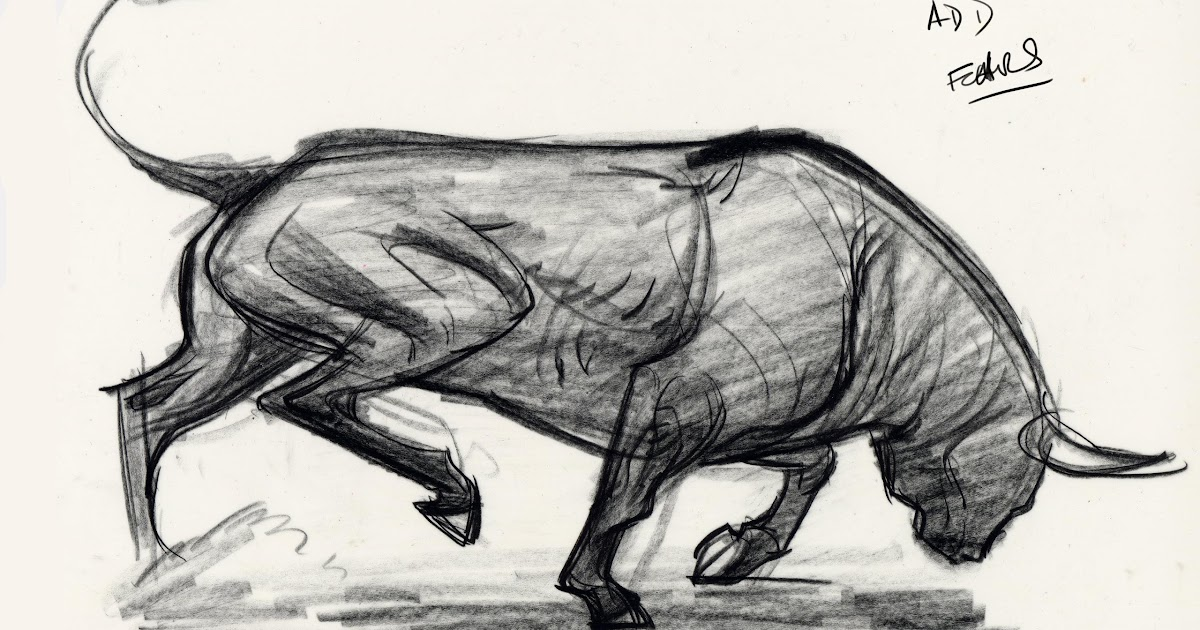 Force Character Design From Life Drawing By Mike Mattesi : Forced by mike mattesi force animal drawing bull