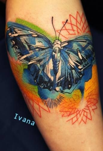 Butterfly tattoo by ivana