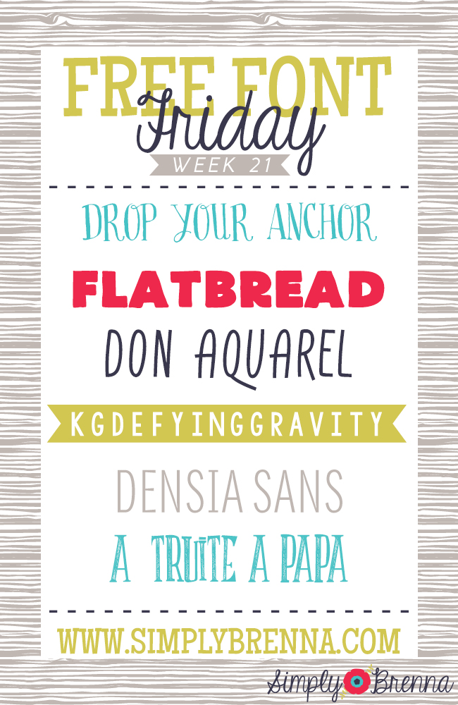 free font downloads week 21 simplybrenna