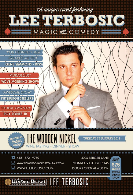 Lee Terbosic, Comedy Magician, Pittsburgh, talent network