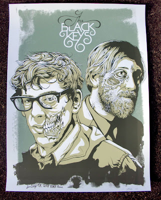 Jeff Proctor Black Keys Poster Illustration