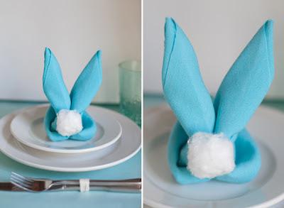 hacer servilleta con forma de conejo