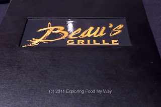 Beau's Grille Menu Front