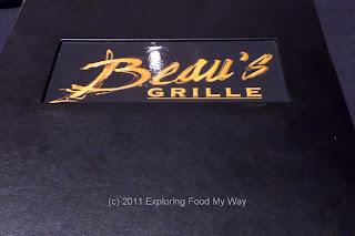 Beau's Grille Menu Front
