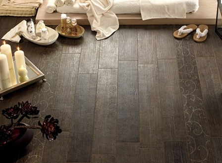 spa with wood tile - WHITE + GOLD: WOOD TILE?!