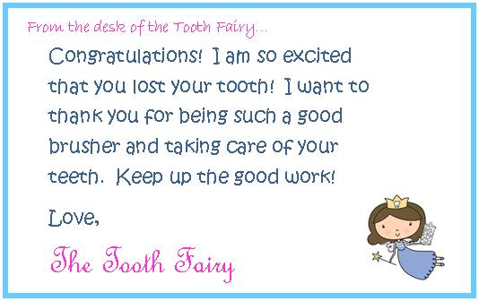 the tooth fairy herself along with the letter she also left evan some ...