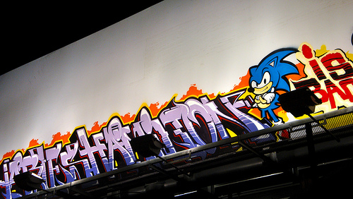 Sonic In Graffiti