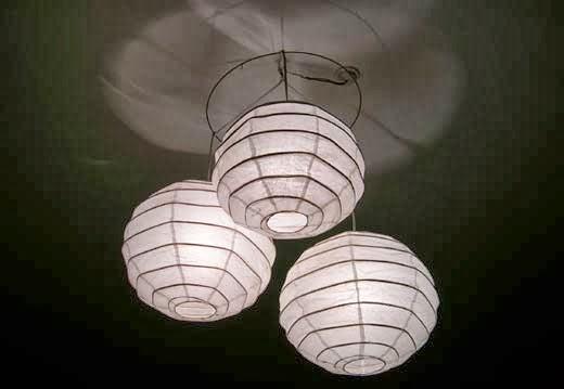 Fatto in casa come creare un lampadario di carta di riso fatto in