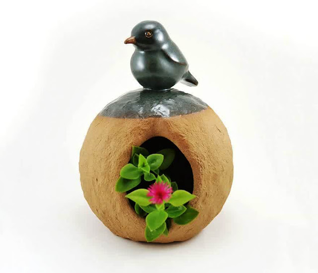 Cute ceramic planter