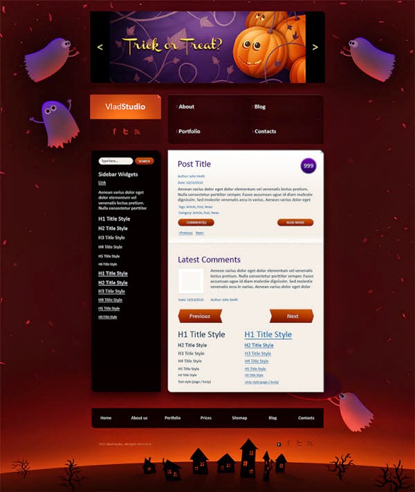 Night Of The Harvest psd template