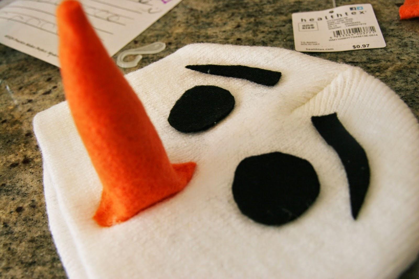 Как сделать нос костюм снеговика