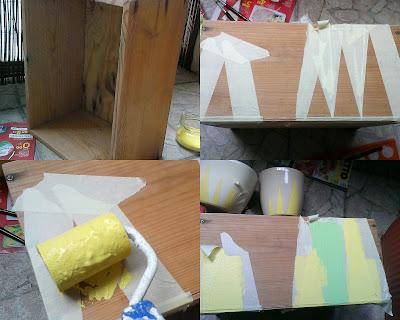 malowanie pudełka DIY