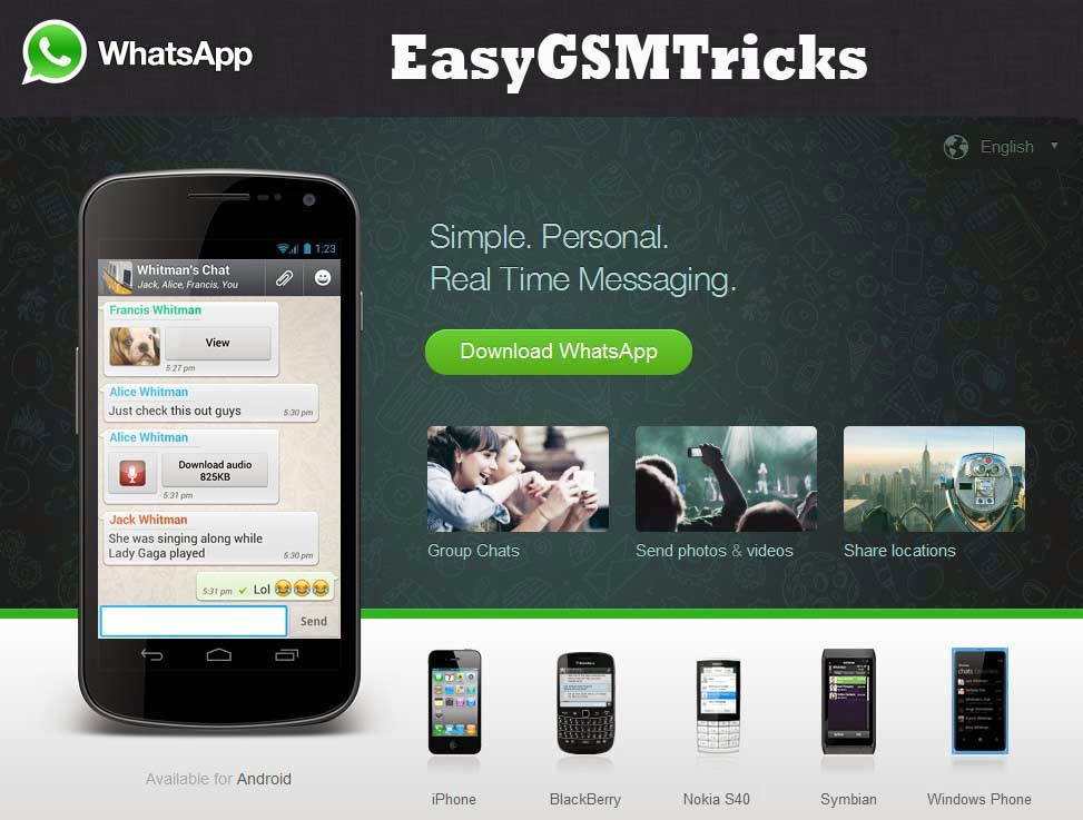 Whatsapp: Whatsapp Download For Nokia Asha 201,301,205,305,501