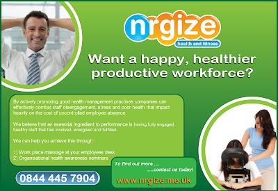 nrgize corporate massage flyer