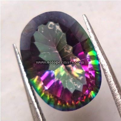 Batu Permata Rainbow Mystic Quartz