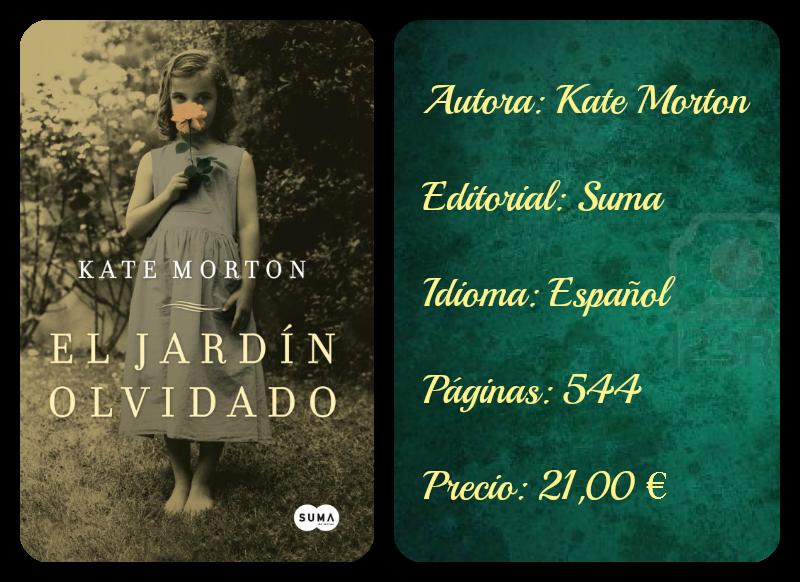 Tacto de libro rese a 18 el jard n olvidado kate morton for Libro jardin olvidado