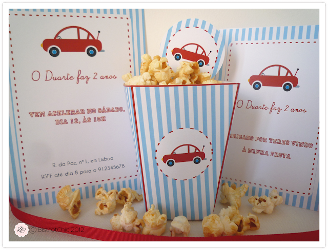 Personalised little red car party printables from BistrotChic