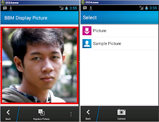 how to change BBM photo Profile
