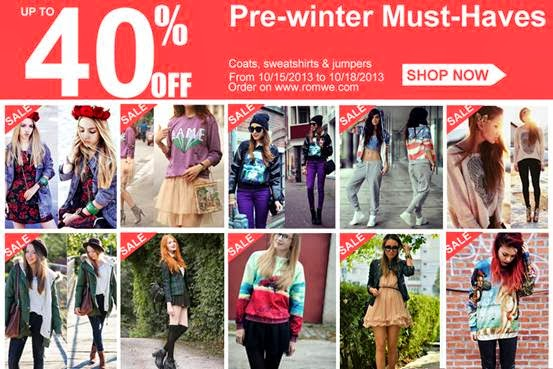 Romwe Pre-winter Must-Haves  Up to 40%off