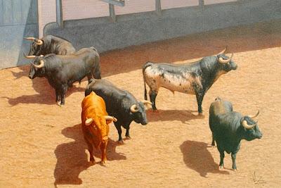 toros-y-caballos-al-oleo