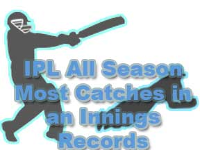 IPL All Season Most Catches in an Innings Records and Fielding Records