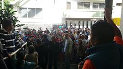 Dialogan autoridades de Transporte del Estado con integrantes de Antorcha Campesina
