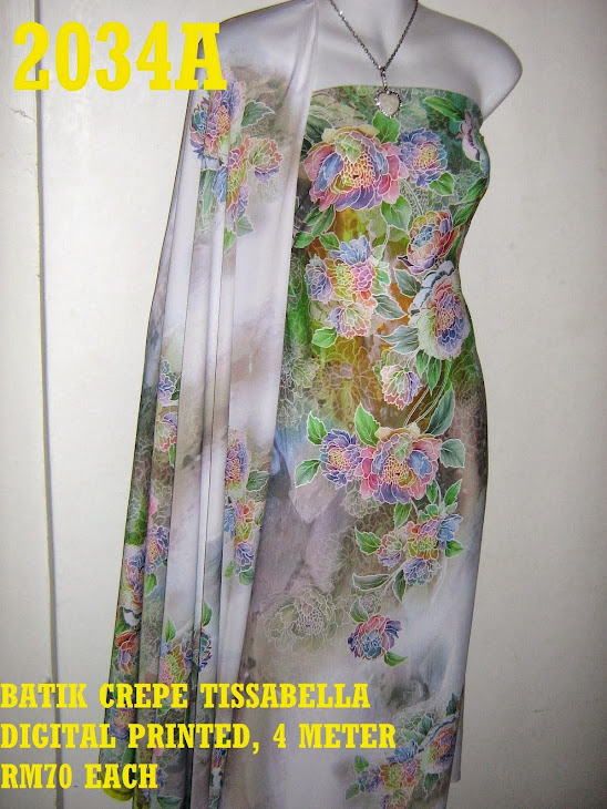 CTD 2034A: BATIK CREPE TISSABELLA DIGITAL PRINTED, EXCLUSIVE DESIGN, 4 METER