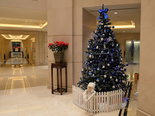 Christmas tree display the lobby of Tower Apartments at Oriental Plaza, Millennium Block, in Beijing