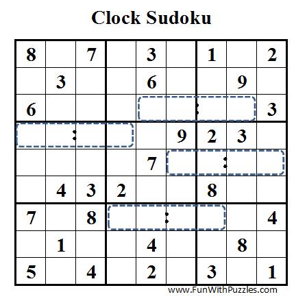 Clock Sudoku (Daily Sudoku League #41)