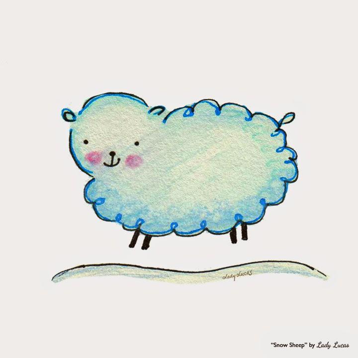 Snow Sheep by Lady Lucas | #25DaysofSnowmen