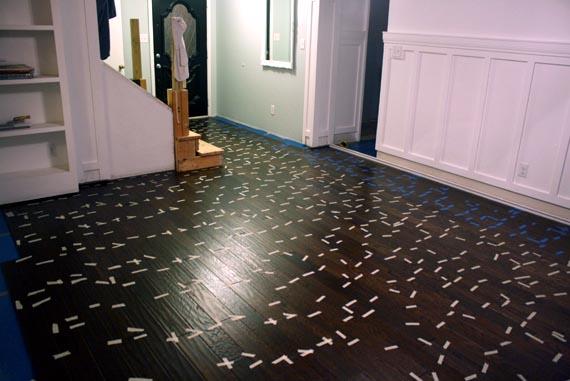 Remodelaholic | Installing A Floating Wood Floor; Living Room Update; Part 6 - Remodelaholic Installing A Floating Wood Floor; Living Room