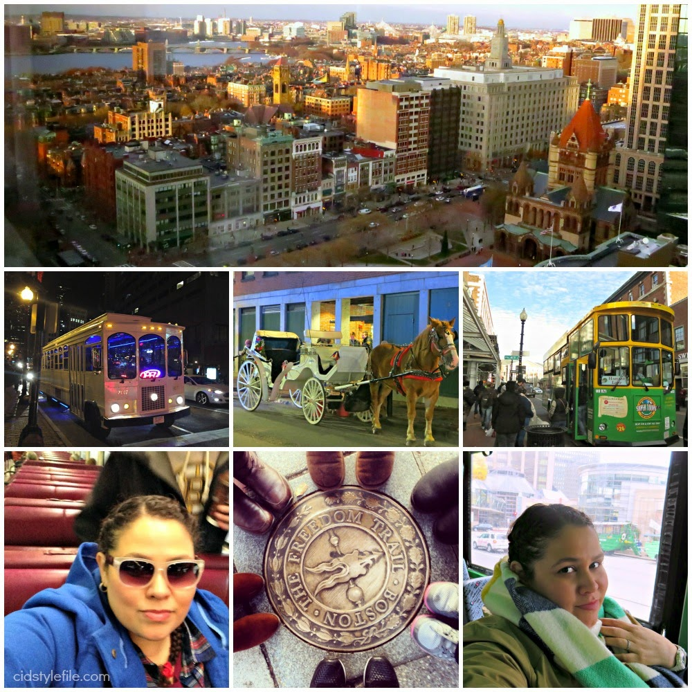 duck tour, trolley, the T, train, party bus, freedom trail, transportatin