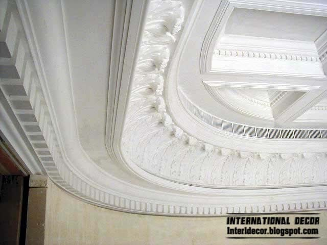 Interior and architecture plaster cornice top ceiling for Ceiling cornice ideas