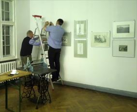 Ausstellungsaufbau Graphik-Collegium