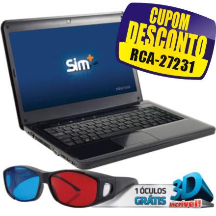 Cupom Efácil - Notebook 3D Core I7 Sim