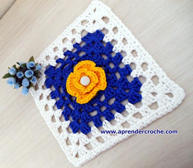 aprender croche com square edinir-croche
